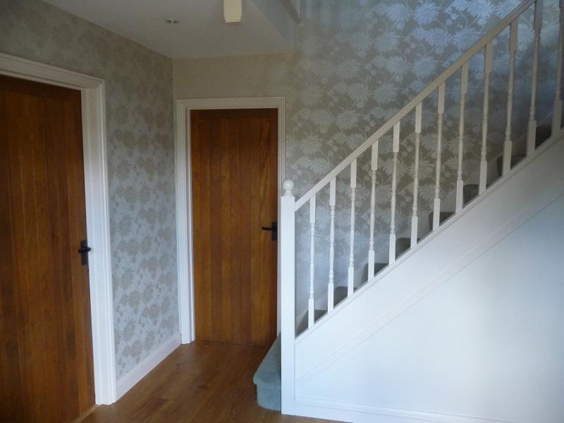Interior decorating j a decor painters and Design ideas for hallways and stairs